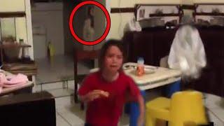 5 Bambini ripresi dai loro Genitori mentre avvistano Fantasmi