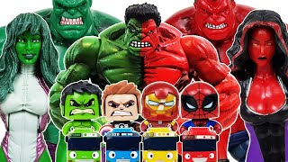 Red Hulk, She-Hulk & Avengers Go~! Spider-Man, Iron Man! Captain America & Venom, Thanos