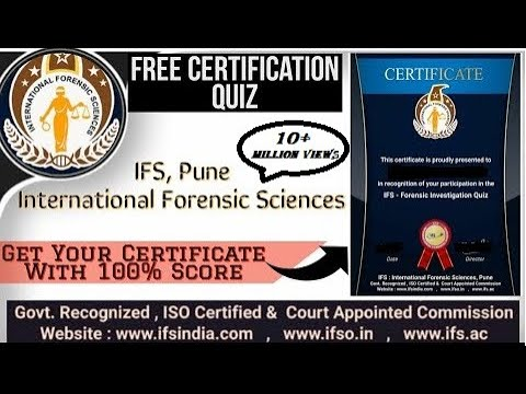 International Forensic Science Certificate    IFS Education ... - YouTube
