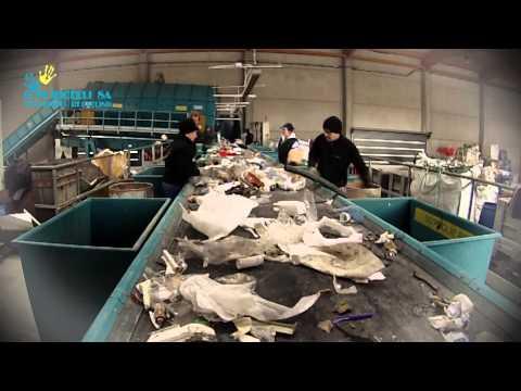 Impianto di separazione e selezione rifiuti  Ditta F.lli Puricelli SA