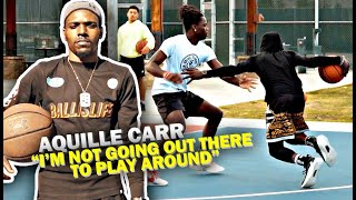 """Aquille Carr Gets READY For 1v1 vs Trevor Dunbar!! """"I Can Do Way More Than Crossing People Up!"""""""