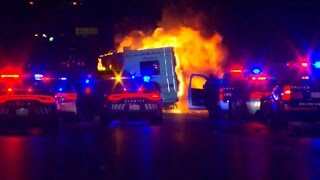 Children rescued as flames engulf RV after chase