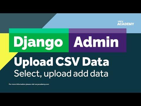 Django Admin CSV file upload thumbnail