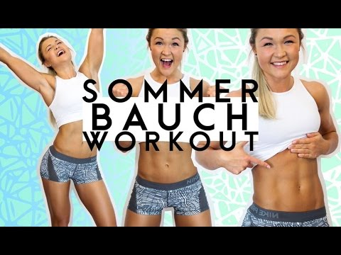 ♥HOME BIKINI BAUCH Workout♥ | FIT für den Sommer | Sophia Thiel