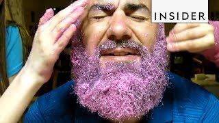 Kids Decorate Dad's Beard