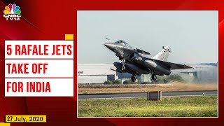 5 Rafale Jets Take Off For India