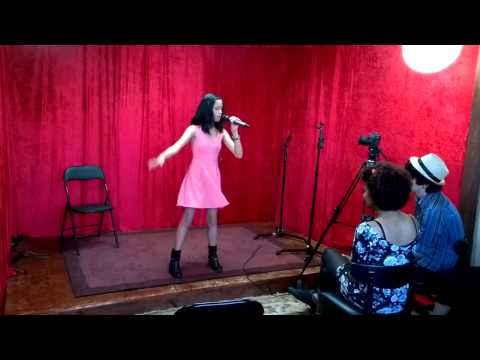 "Award winning student Sophia Alexis rehearsing ""Problem"" for a contest in Las vegas"