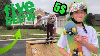 We skated a CHEAP 5$ skateboard for 24hrs