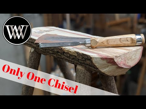 Tree To Stool With Only One Chisel Limited Tools Hand Tool Woodworking