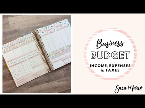 , title : 'BUSINESS BUDGET | How I Track INCOME, EXPENSES & TAXES | Self Employed Budget | Sara Marie Stickers
