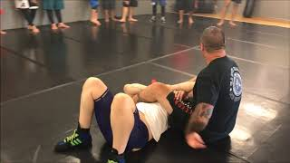 Body Lock Takedown to Short Arm Scissors with Leg
