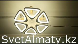 Светодиодная люстра с пультом управления 6603-6S от компании Владислав Хорешко - видео
