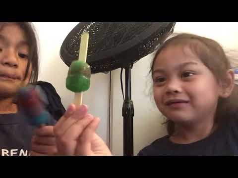 Eating popsicle!(melts)