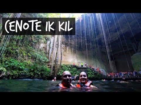 SWIMMING IN A 150 FEET SINKHOLE | Cenote Ik Kil, Yucatan, Mexico 🇲🇽