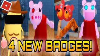 How To Get ALL 4 NEW BADGES In PIGGY RP INFECTION - ROBLOX