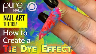Creating A Tie Dye Effect Using The Pure Nails Beach Party Colours