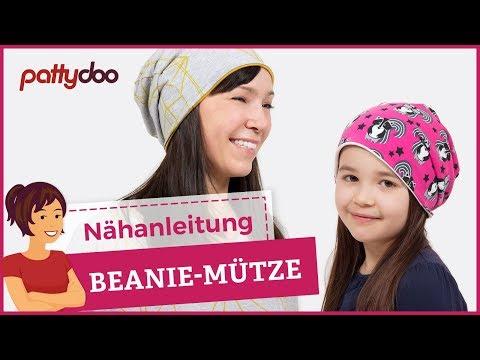 DIY Mütze nähen für Anfänger - Wendemütze, Beanie aus Jersey - pattydoo Schnittmuster