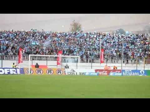 """Salida Deportes Iquique vs Colo Colo"" Barra: Furia Celeste • Club: Deportes Iquique"