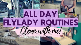 ALL DAY CLEAN WITH ME! // My Flylady Cleaning Routines! // 2020 CLEANING MOTIVATION