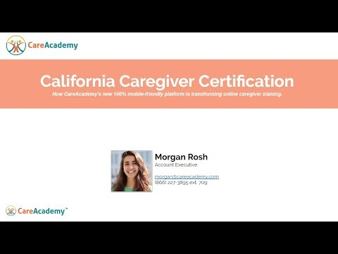 Caregiver Training: California Caregiver Certification Requirements ...
