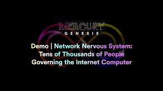 Demo | Network Nervous System: Tens of Thousands of People Governing the Internet Computer