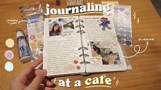 journal with me at a cafe ☕️