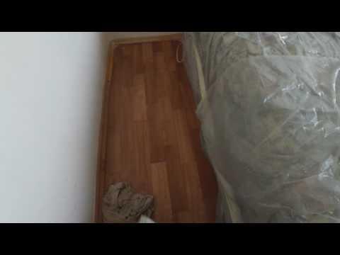 Как  Быстро Очистить Пол от ляп после покраски потолка.