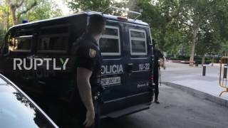 Spain: Ex-FC Barcelona president arrives in court to testify in money-laundering case