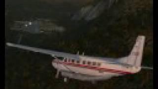 Landing Cessna grand caravan at Saanen FSX