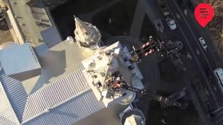 preview picture of video 'Comment décrocher une croix du clocher de la cathédrale de Saint-Jérôme'