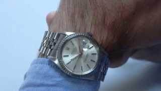 ROLEX vintage wristwatch, Oyster Perpetual 'Datejust' Chronometer, Ref. 16030, circa 1985