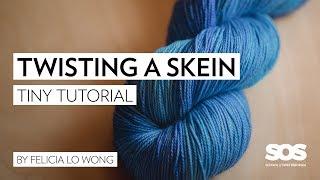 Twisting a Skein of Yarn // School of SweetGeorgia // Tiny Tutorial