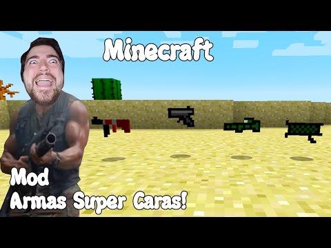 Minecraft 1.10.2 MOD ARMAS SUPER CARAS! DrSquids Gun Mod Español!