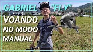 """GABRIEL """"FLY"""" VOANDO NO MODO MANUAL COM O DJI FPV DRONE! Primeiro voo """"acro mode"""" do Gabriel no DJI!"""
