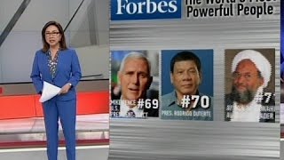 Forbes counts Duterte among World