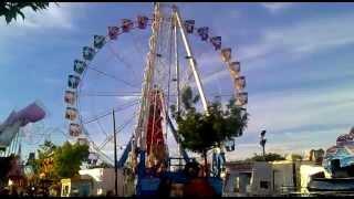 preview picture of video 'Noria en las Fiestas de Torrejón de Ardoz 2013 ( Madrid ).'
