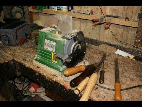 So schärfe ich meine Drechseleisen // Drechseleisen freihand schärfen