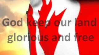 O CANADA WITH LYRICS