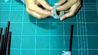 Decorar pajitas con washi tape