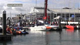 preview picture of video 'Cowes Torquay Powerboat Race 2011'