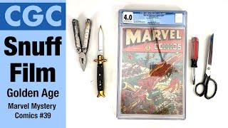CGC Snuff Film. Marvel Comics 39, Golden Age, With Warren Bernard