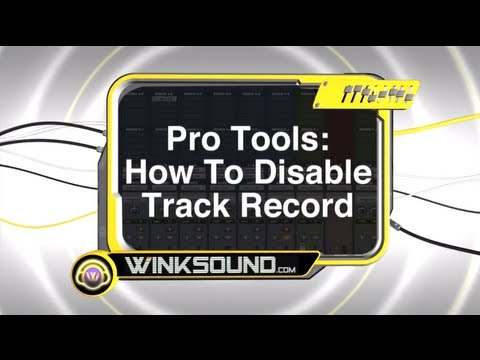 Pro Tools: How To Disable Track Record | WinkSound