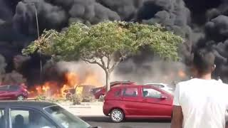 Early Footage Massive Oil Pipeline Explosion In Cairo, Egypt