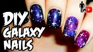DIY GALAXY NAILS - Man Vs Youtube #8