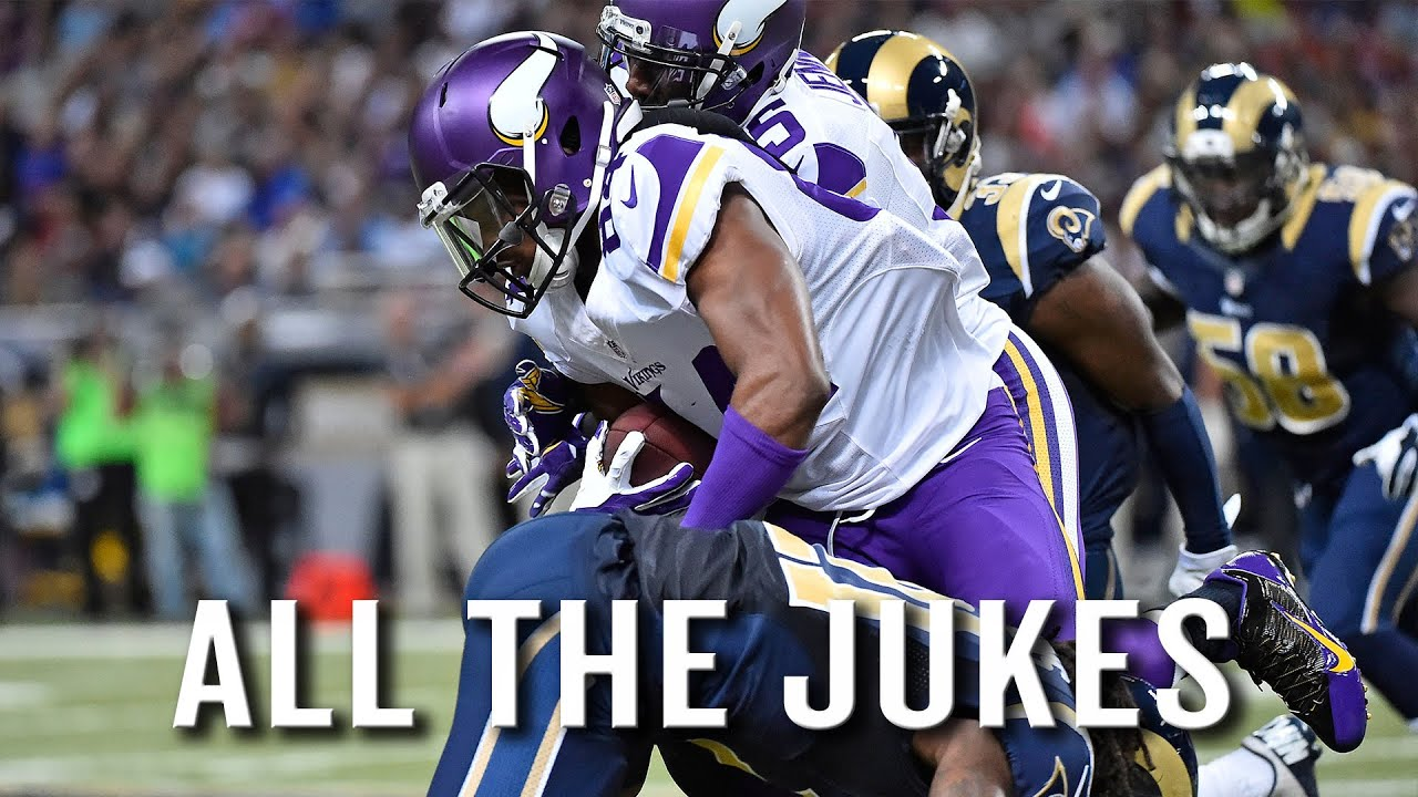 Vikings WR Cordarrelle Patterson put in at RB, jukes the HELL out of Rams for TD thumbnail
