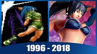 Evolution of Leona Heidern from The King of Fighters (1996-2018)