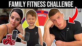 FAMILY FITNESS CHALLENGE | Ft MattDoesFitness, Luca & Sairs