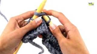How to knit 2 stitches together (k2tog)