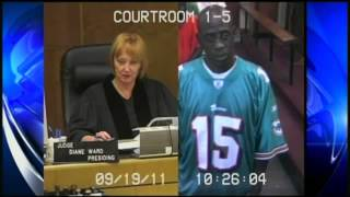 Dumb criminal steals Dolphins jersey and wears it to trial   YouTube
