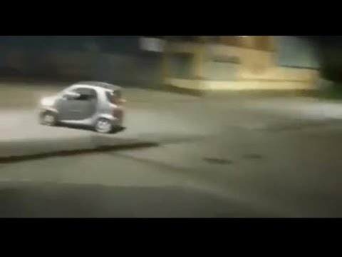 Guy Tries To Drift In A Smart Car, With Predictable Results